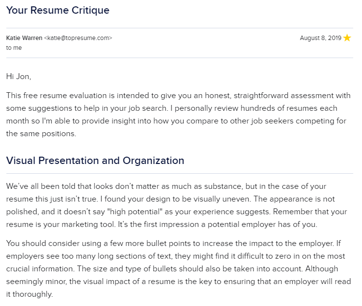 free resume review 2