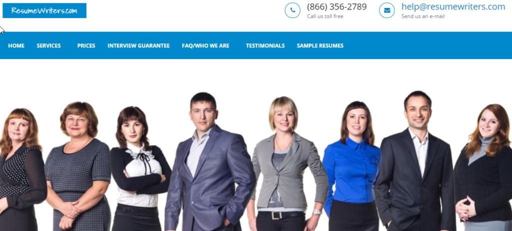 resumewriters.com homepage