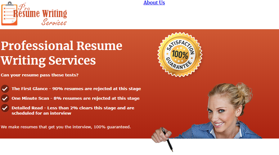 pro resume writing services homepage