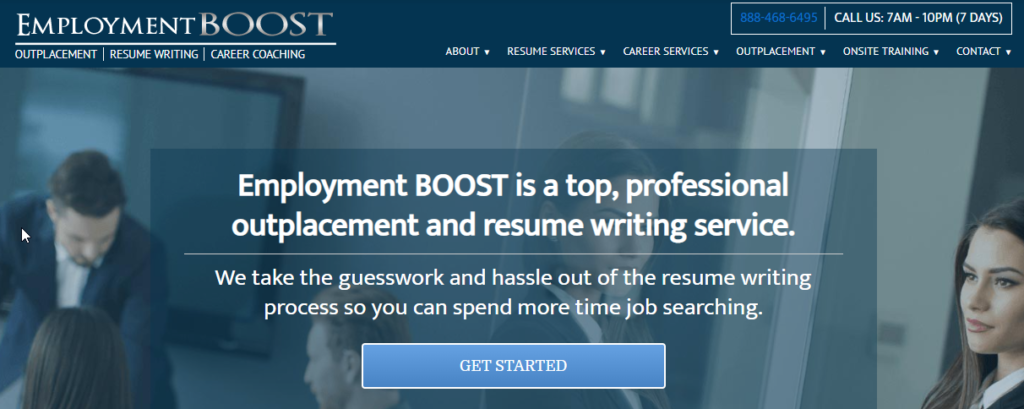 Employment boost homepage