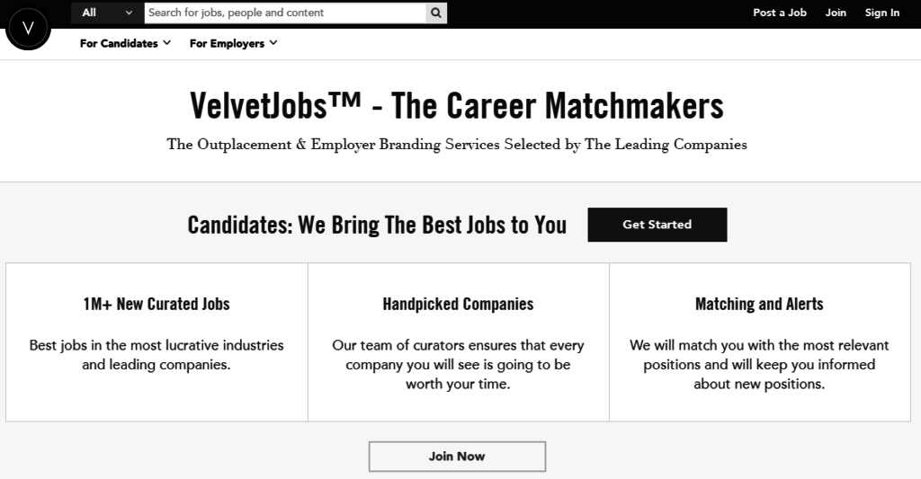 velvet jobs homepage
