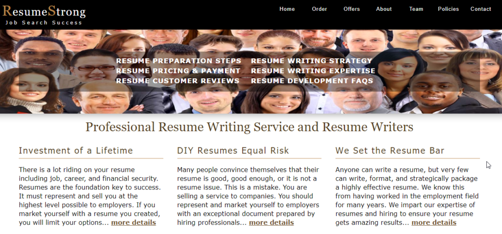 resume strong homepage