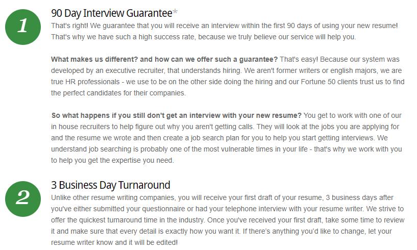 resume target guarantees