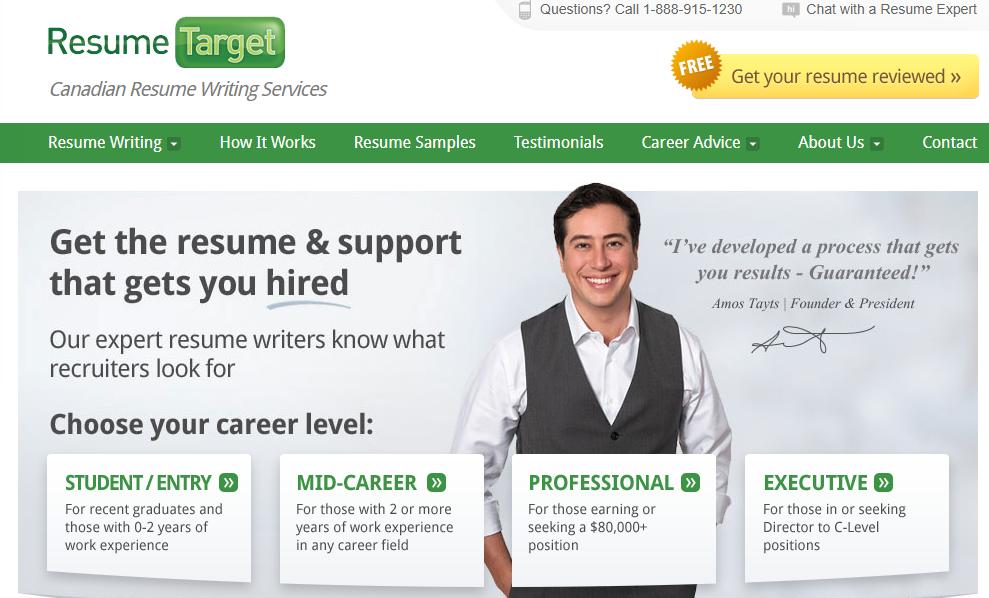 resume target homepage