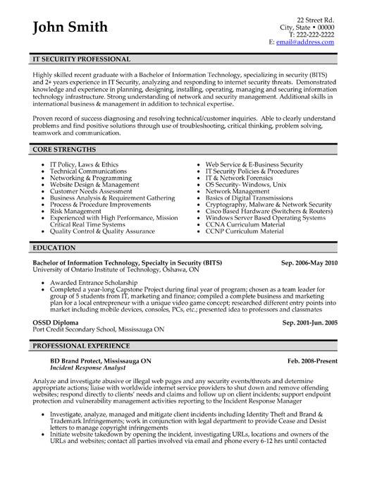 resume target sample